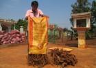 Rễ và gốc hồ tiêu được thu gom tại nhà ông Dũng